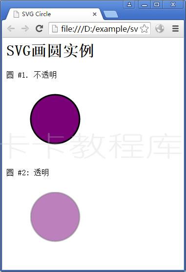 SVG画圆实例