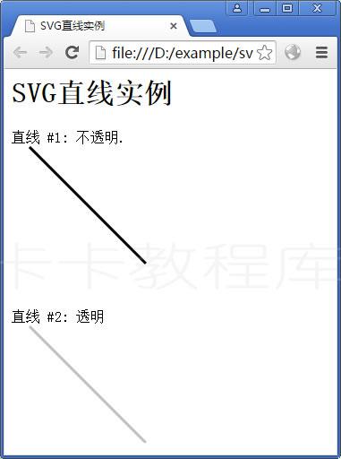SVG直线实例