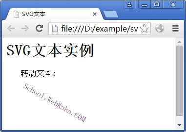 SVG文本实例(转动文本)