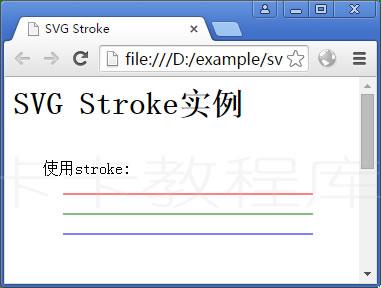SVG Stroke实例