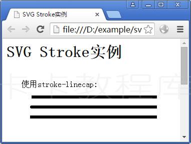 实例:使用stroke-linecap