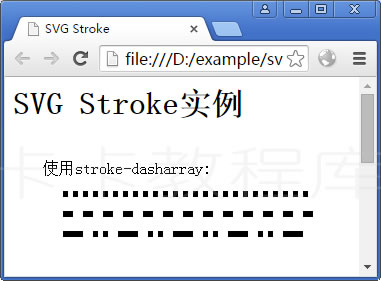 实例:使用stroke-dasharray